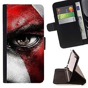 Momo Phone Case / Flip Funda de Cuero Case Cover - Dios de la guerra CRATO - Samsung Galaxy Note 4 IV