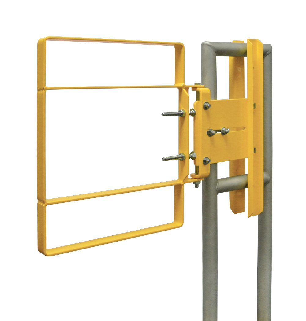 Fabenco XL71-16PC XL-Series Extended Coverage Self-Closing Safety Gate, A36 Carbon Steel with Yellow Powder Coat, 17-to-18.5-Inch x 22-Inch