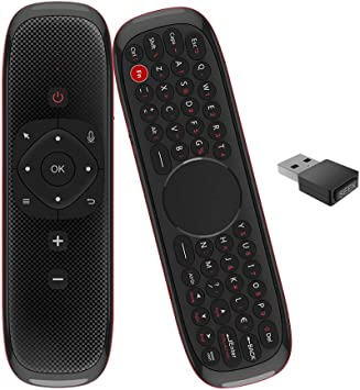 Air Mouse Voz Mando con Función Anti Lost, Touchpad, IR Learning, 2.4ghz 6 Axis Gyroscope para Android TV Box, PC, Smart TV, Proyector, HTPC, Reproductor Multimedia: Amazon.es: Electrónica