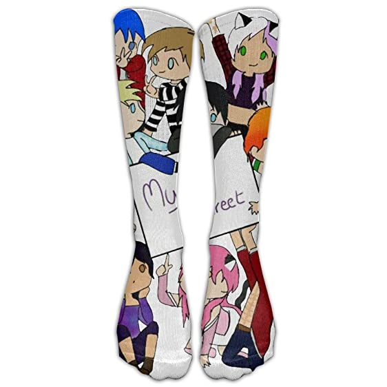 hei222 costume cosply socks halloween funny unisex aphmau minecraft my street b boy cool knee