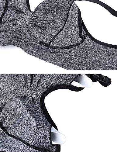 Reggiseno cuciture Aibrou removibili Allattamento Reggiseno bretelle per senza black donna in aggiunta Black black e da Allattamento con U8t8wA