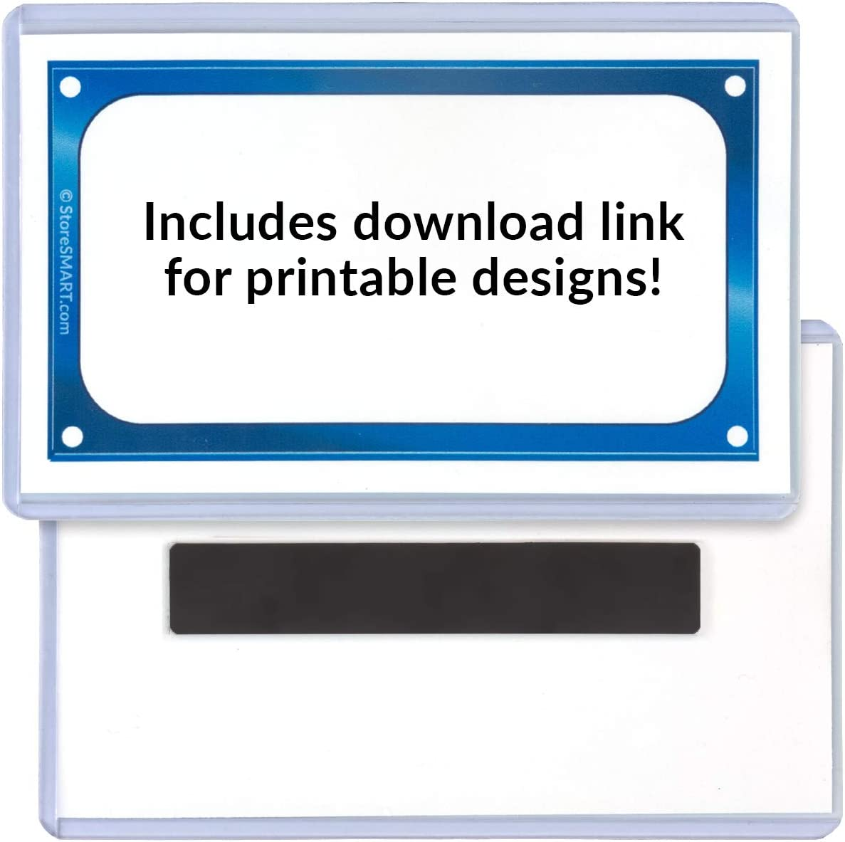 StoreSMART 3 x 5 Rigid Sign Holders with Downloadable Inserts RSH3X5M-50 Magnetic Back 50-Pack