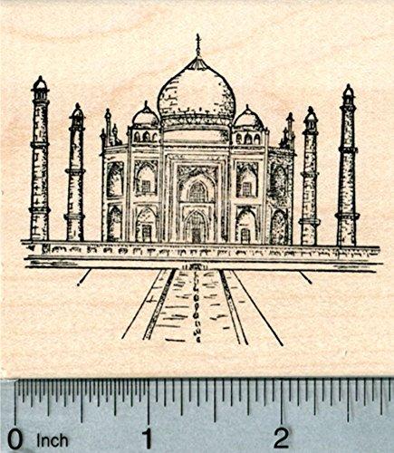 Taj Mahal Rubber Stamp, India, World Travel Series