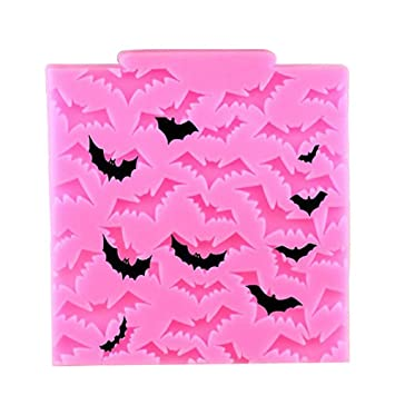 nikgic Halloween murciélagos Fondant Molde antiadherente Chocolate Pudding molde para magdalenas Moldes para niños DIY Herramientas de mordaza: Amazon.es: ...