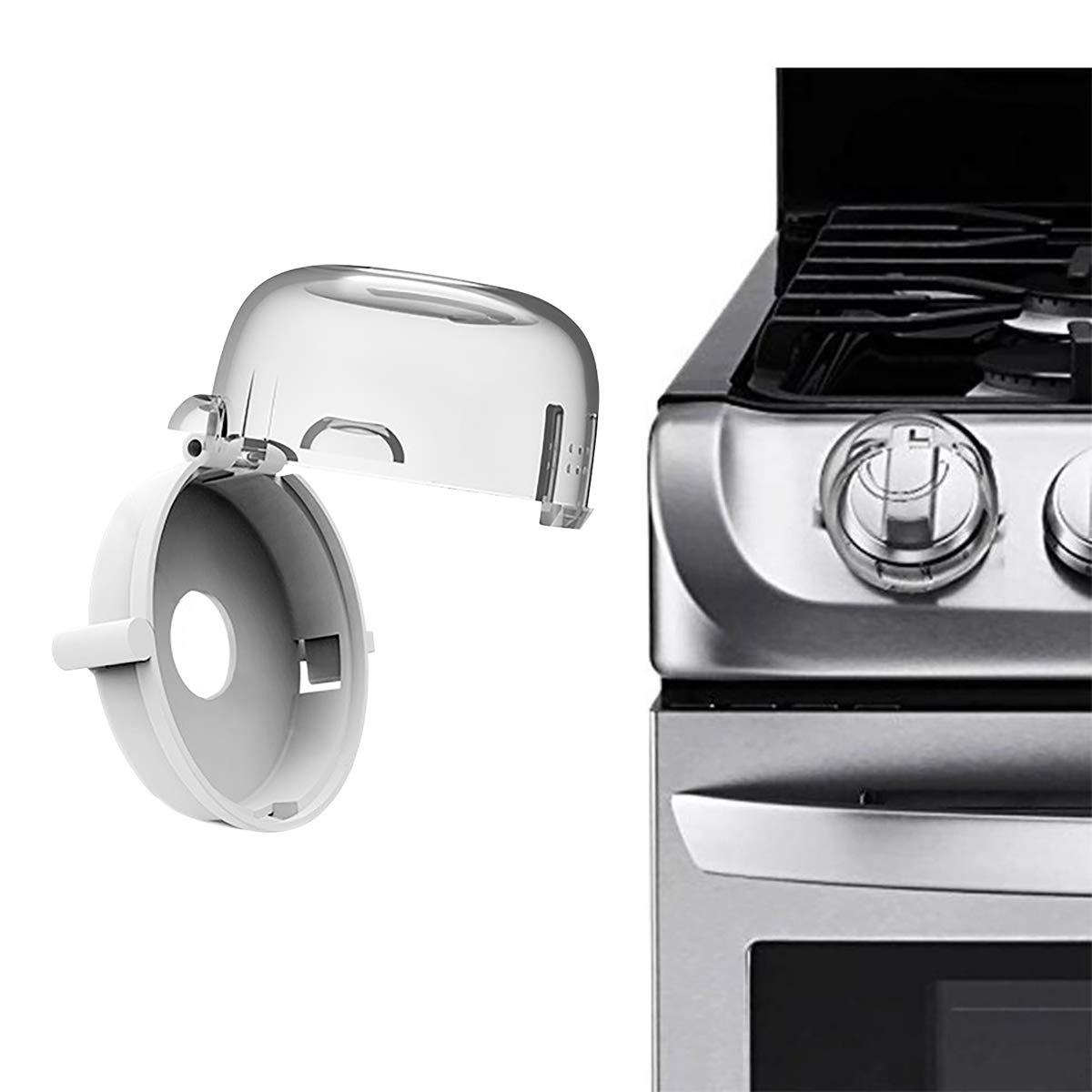 Couvertures de bouton de cuisini/ère Pawaca S/écurit/é b/éb/é Four Po/êle /à gaz Poign/ée Protection Serrures pour b/éb/é Enfant Cuisine Cuisine S/écurit/é