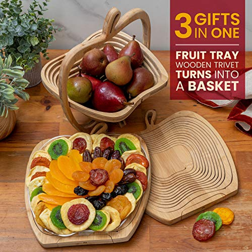 Dried Fruit Gift Basket – Healthy Gourmet Snack Box – Holiday Food Tray – Variety Snacks – Great for Birthday, Sympathy…