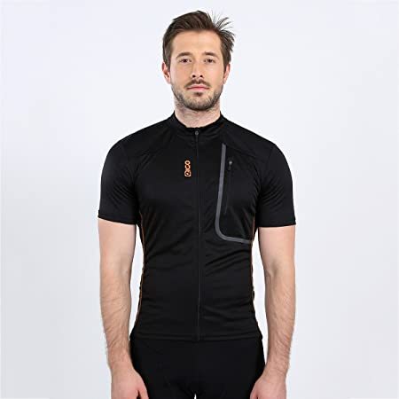 EIGO TREK SHORT SLEEVE JERSEY FOR ROAD CYCLING BLACK//ORANGE