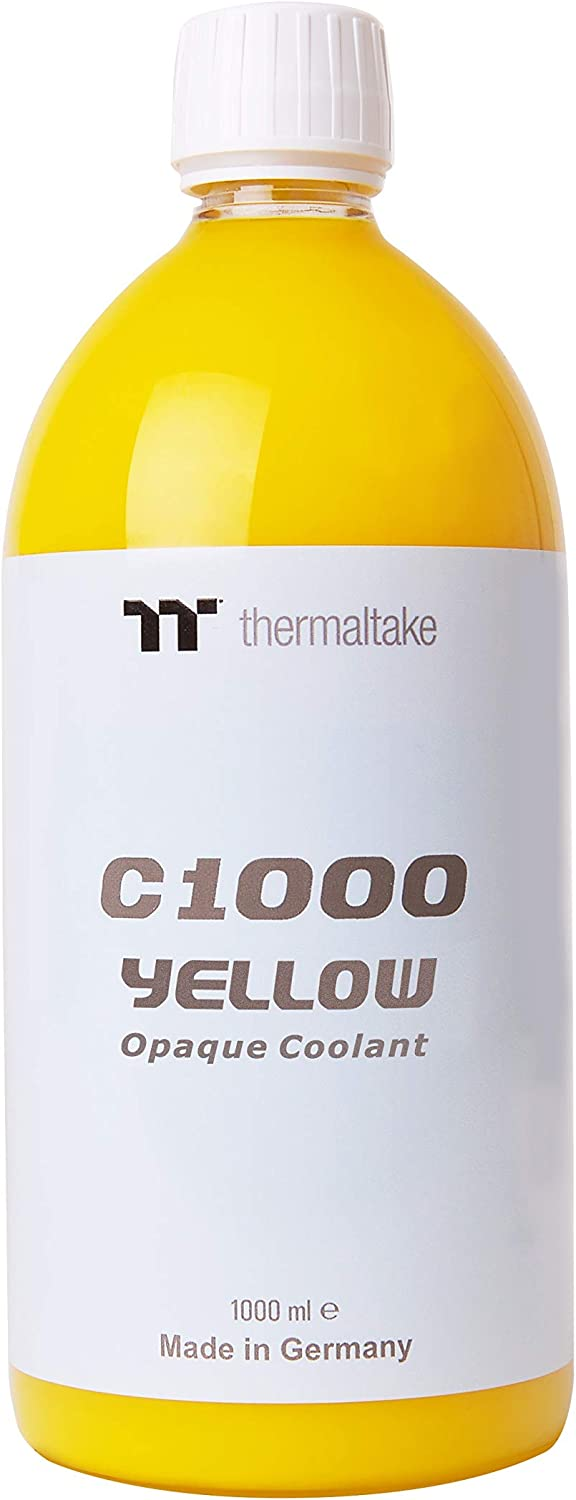Thermaltake C1000 1000ml Vivid Color Computer Water Cooling System Coolant CL-W114-OS00YE-A, Yellow
