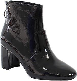 Y2Y Studio Bottines Courtes de Pluie Chaussures Femmes Vernis Talon ... 33cbe8a5c48b