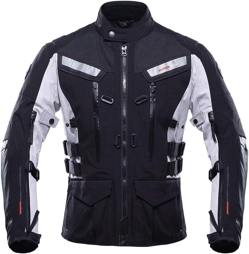 LLC-CLAYMORE Moto a Caballo Chaqueta Cortavientos de la Motocicleta de Cuerpo Completo Protector de Engranajes Armadura otoño Invierno Moto Ropa para Hombre
