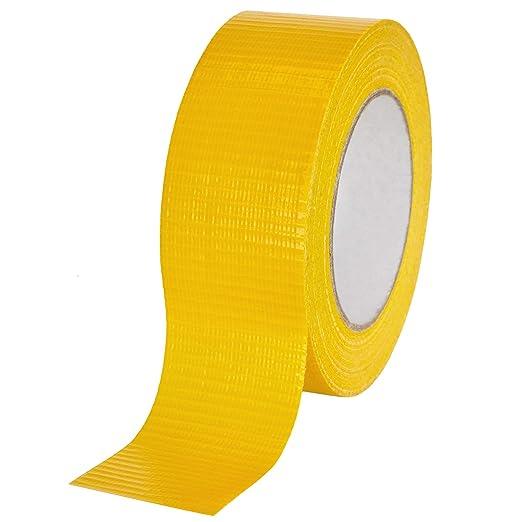 gelb 12 St/ück baytronic Gewebeband 48 mm x 50 m