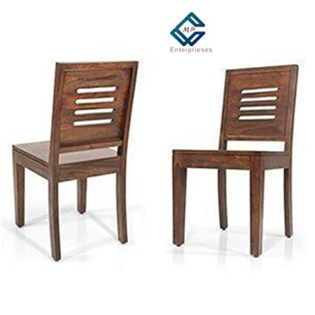 MP Enterprises Sheesham Wood Dining/Balcony Chairs for Home and Office | Teak Finish | Set of 2
