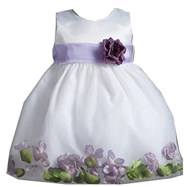 Amazon crayon kids baby girls white purple petal flower girl crayon kids baby girls white purple petal flower girl dress 24m mightylinksfo