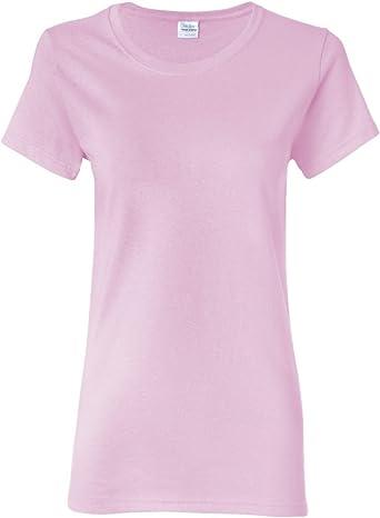 5 Paquete de Gildan Algodón Grueso Camiseta de mujer Top Mujeres Niñas Liso OFICIO Todas Las Tallas + COLORES: Amazon.es: Ropa y accesorios