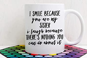 Sister Gift Birthday Mug For In Law Funny Sisters