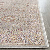 Safavieh Sevilla Collection SEV810A Silver and Ivory Silky Viscose Distressed Runner (21 x 8)