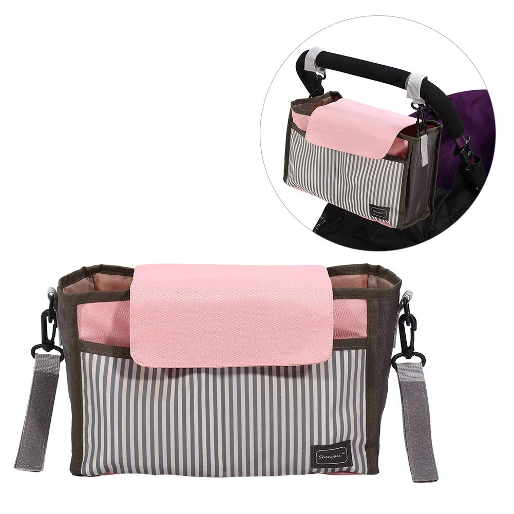 Black//Pink Universal Fit Storage Bag Toys and Accessories Large Pushchair Organizer for iPhone Black Buggy Organiser /& Pram Storage Bag BY Acogedor Stroller Buggy and Pram Bag Diapers