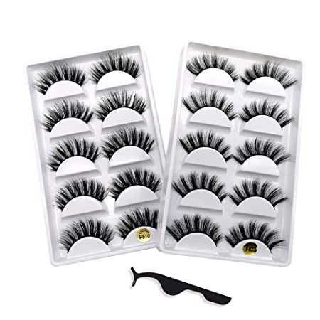 Kelly Room 3 D Faux Mink Lashes Pack: 10 Pairs Dramatic Natural False Eyelashes With Lash Applicator 2 Styles by Kelly Room