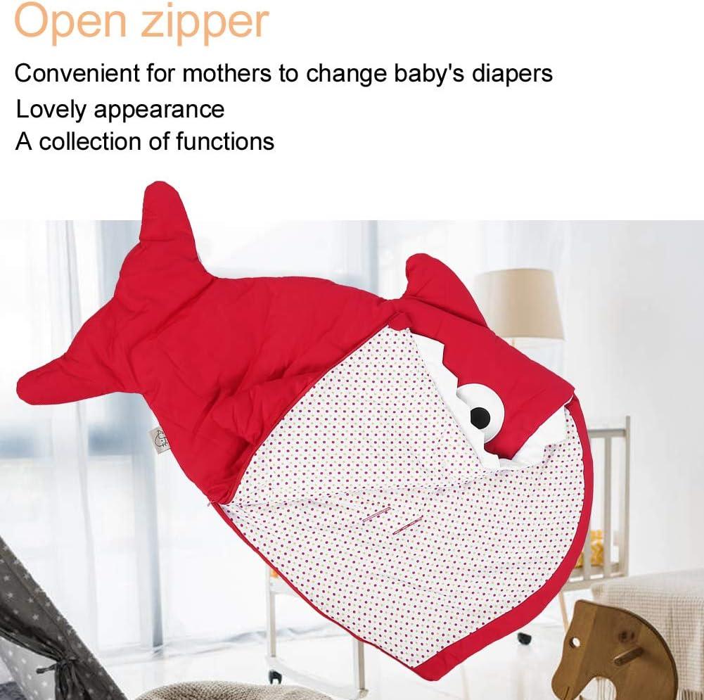 sac de couchage b/éb/é requin pour nouveau-n/é de 0 /à 12 mois couverture portable en coton r/églable Bleu clair Sac de couchage pour b/éb/é