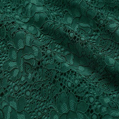 Mode Soire Lace Nouvelle Basique Audrey Green Blue De Hepburn Vert paule Rouge Robe Noir Robe Rose AxwTwqE4