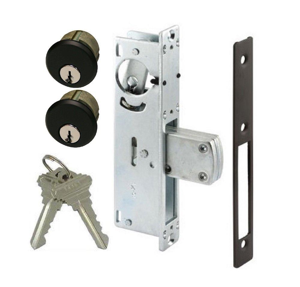 Adams Rite Style Door Lock Mortise Deadbolt & Double Keyed Cylinder Set, in Duronotic (1-1/8' BACKSET) in Duronotic (1-1/8 BACKSET)