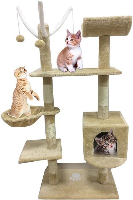 Homgrace Árbol para Gatos Juguete Rascador para Gatos para Que los ...
