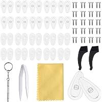 NATUCE 20 paar neuspads, luchtkamer neuspads van siliconen, anti-slip bril neuspads, bril oorbeugels, brillen…