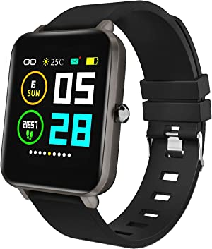 Zagzog Smart Watch Square Multifunction for Men Women, Compatible for Android iOS Phones, IP68 Waterproof, Step Counter, All-Day Activity Tracking, 1.54