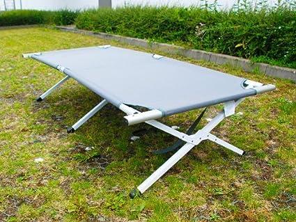 belastbar bis 250kg EXPLORER Feldbett Alu 189x64x42cm Klappbett Campingbett Liege G/ästebett Faltbett mit Tasche
