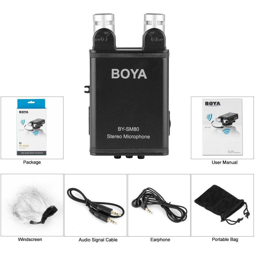 Boya BY-SM80 profesional Dual estéreo XY condensador micrófono ...