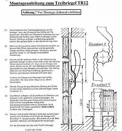 Terren Grill | Torfeststeller Tr12 Tortreibriegel Torverschluss Torverriegelung Bis