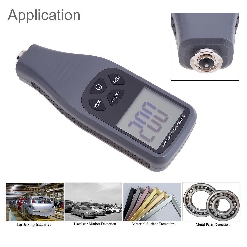 prettygood7 - Medidor de Espesor de Metal con Pantalla LCD Digital, Herramienta de medición retroiluminada, Calibre de Grosor, portátil, Mini Herramienta de ...