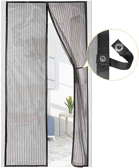 Cortina Mosquitera Magnética para Puerta con Alzapaños, Mosquitera para Puertas Para Puertas Cortina de Sala de Estar 90 x 210 cm de AUGOLA 2020, Negro: Amazon.es: Bricolaje y herramientas