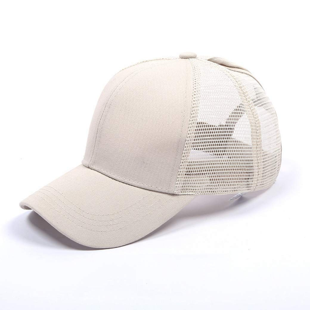 bredLily Dropshipping Glitter Ponytail Baseball Snapback Cap for Women Caps Messy Bun Cotton Sports Mesh Trucker Hat