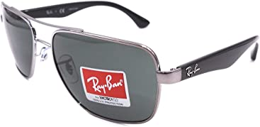 eea4315173e92 Ray-Ban Men s Rb3483 Square Sunglasses Gunmetal 60.0 mm