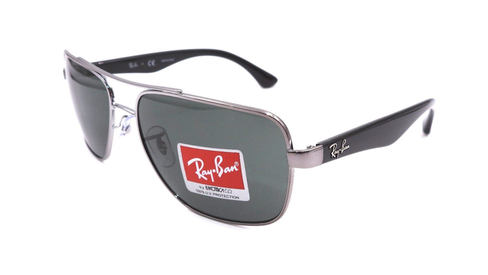 Ray-Ban Men's Rb3483 Square Sunglasses Gunmetal 60.0 mm