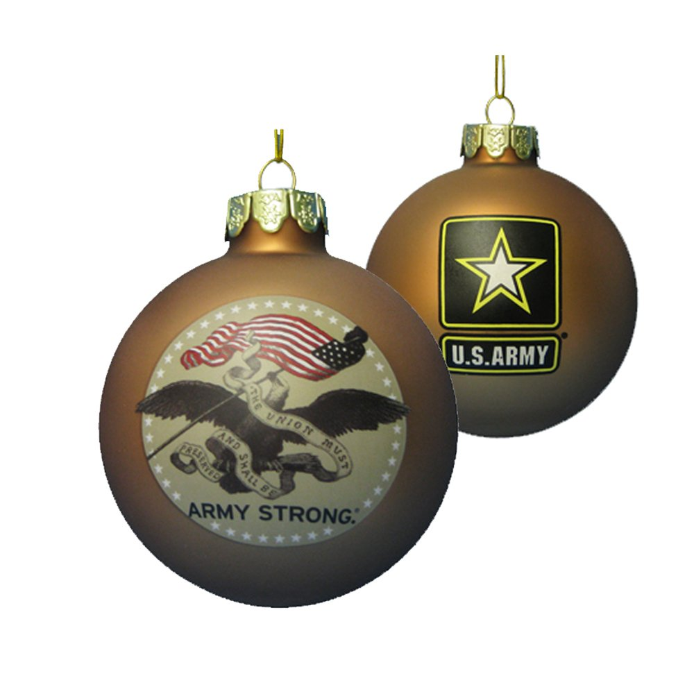 Amazon.com: Kurt Adler 80-MM U.S. Army Gold Glass Ball Ornament ...