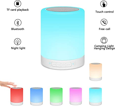 Portable 3W USB Rechargeable Touch Sensor LED Night Light Dimmable RGBWW Bedside