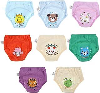 Hztyyier 8PC / S Baby Training Pantaloni Vasino Training Intimo Toddlers Ragazzi Ragazze Cartoon Carino Pannolini Impermeabili 4 Strati