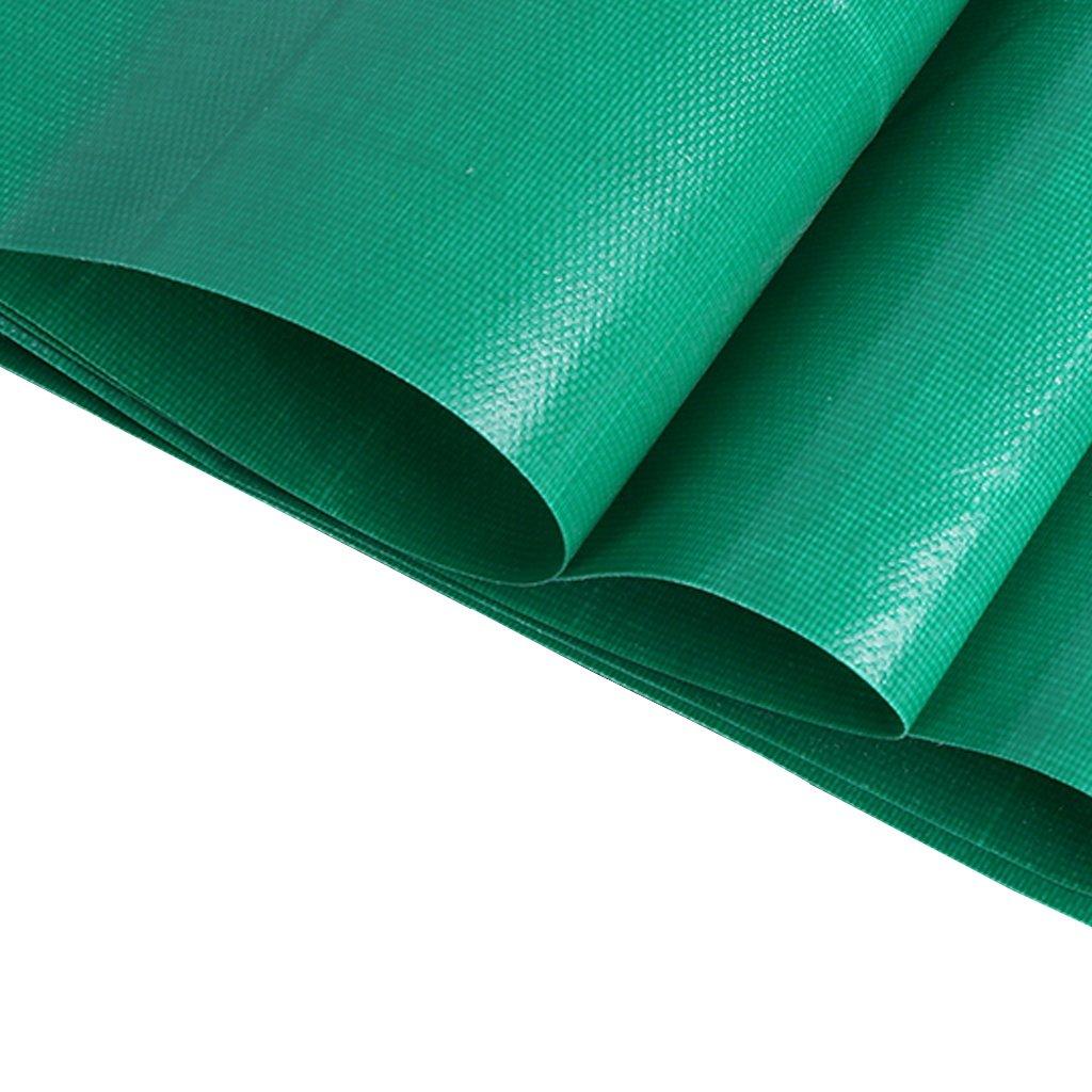 LIYFF-Wasserdicht Plane Abdeckplane Schutzplane Grüne Plane-Wasserdichte Hochleistungs-Plane-Blatt-Stärke 0.3mm, 350g   m² - 100% wasserdicht und UV-geschützt, 18 Größe vorhanden (größe   5m×7m)