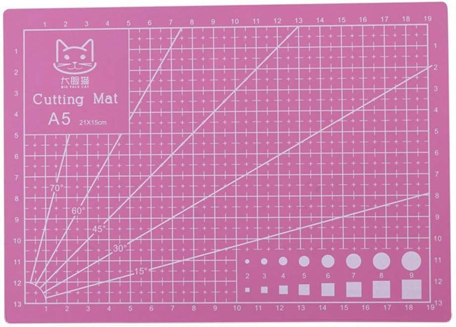 Formato A5 1 Pezzo Blue Tappetino da Taglio Antiscivolo per Fai da Te Durevole e autorigenerante 21 x 15 cm dljztrade