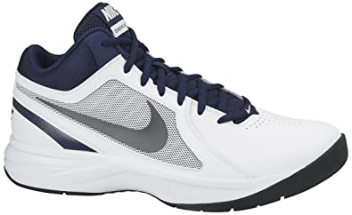 420a4bce07cb8 Nike Men's The Overplay VIII White, Metallic Grey, Navy and Black  Basketball Shoes -8 UK/India (42.5 EU)(9 US)