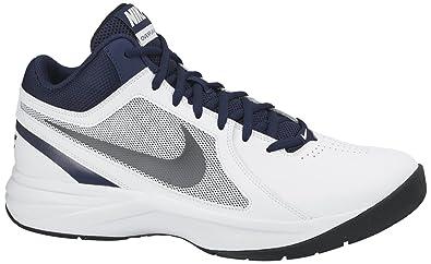 72339ab0d96c3 Nike Men's The Overplay VIII White, Metallic Grey, Navy and Black  Basketball Shoes -8 UK/India (42.5 EU)(9 US)