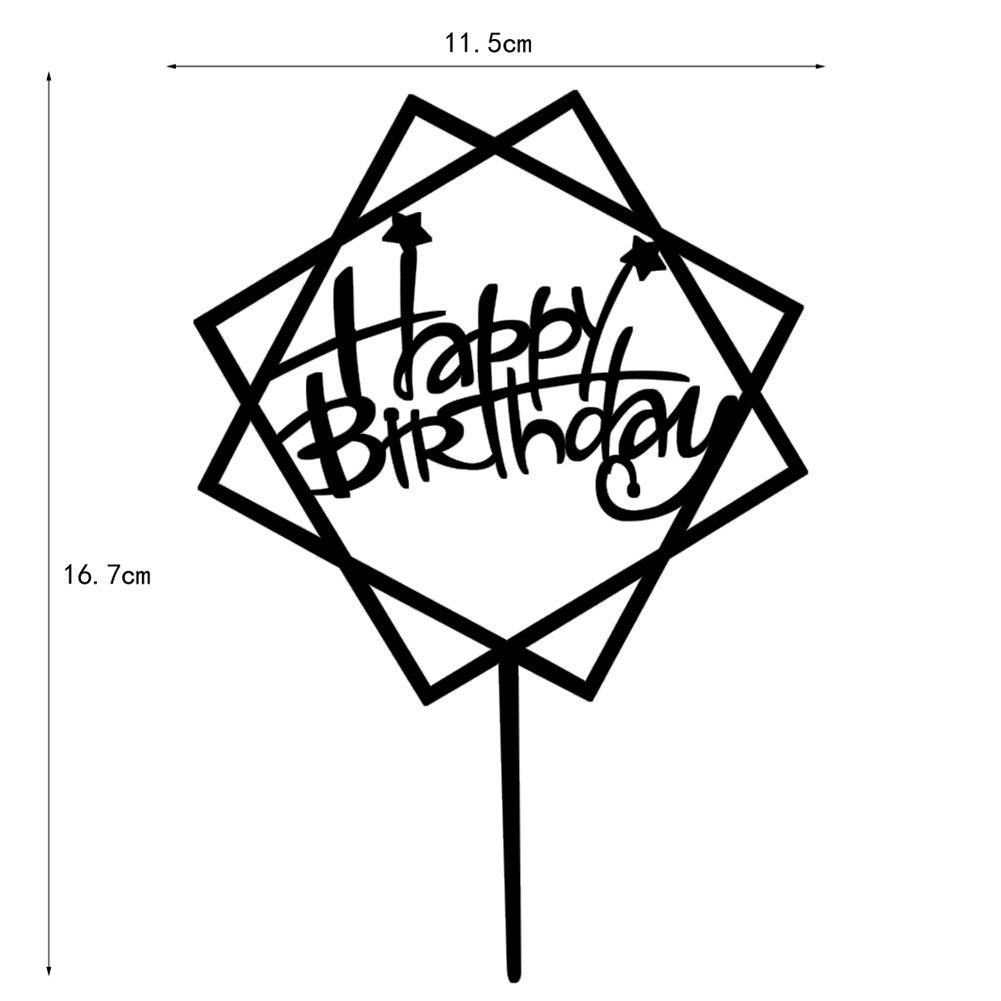 Happy Birthday Cake Topper First Birthday Cupcake Topper , Acrylic Mirror Golden Cake Topper Decoration ,By Comeback