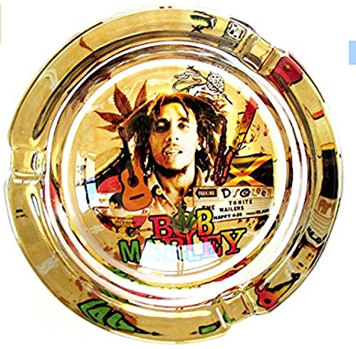 Bob-Marley-Live-in-Concert-Marijuana-Weed-Round-Glass-Ashtray