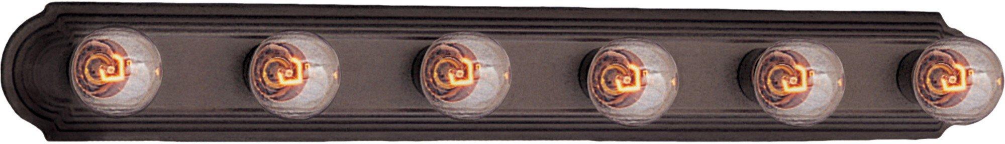 Maxim 7126OI 6-Light Bath Vanity - Oil Rubbed Bronze Bath Fixture, Vanity Light Strip, Antique Bath Light. Home Decor Lighting