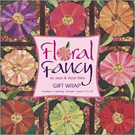 Book Floral Fancy Gift Wrap Book