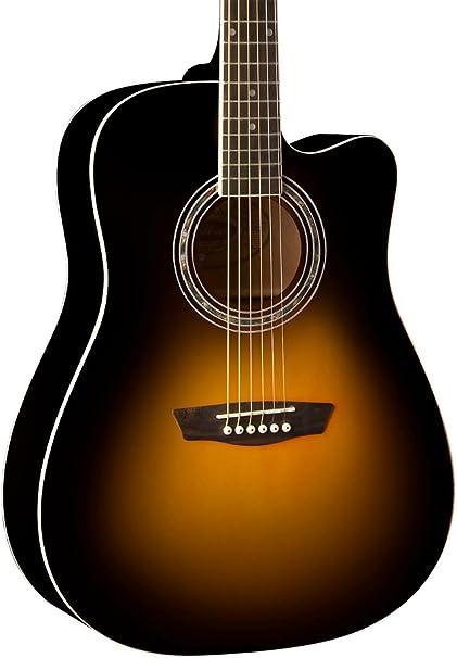 Washburn wa90ce Dreadnought acústica guitarra eléctrica Vintage ...