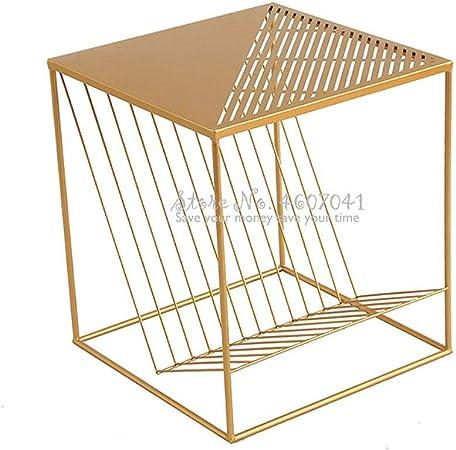 CBVG 45.5 * 50cm Mesa de Centro nórdica de Oro Estante Creativo de ...