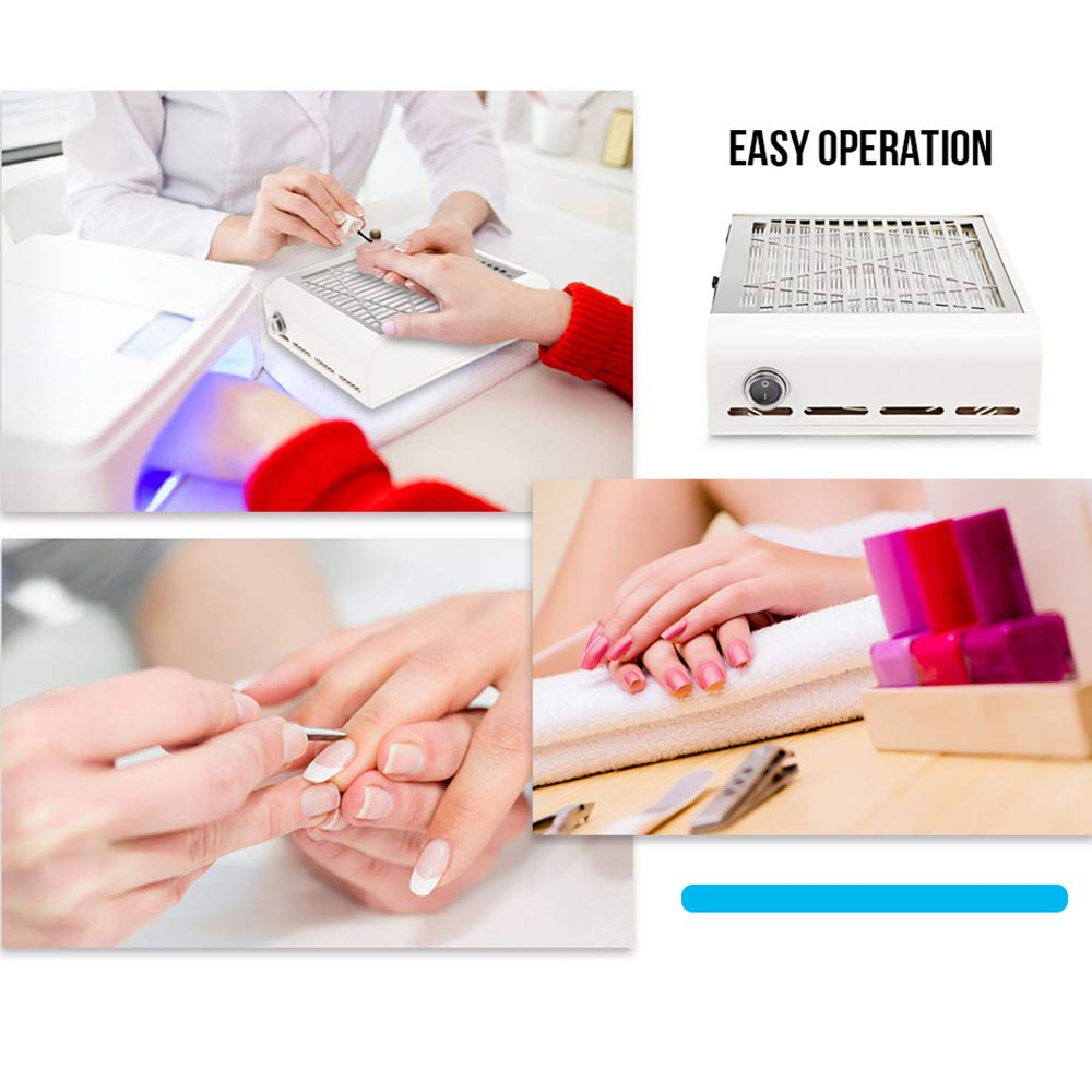 Powerful Nail Dust Collector Nail New Upgraded Salon Expert nail Machine Vacuum Cleaner-Nail Dust Collector Nail Filter Nail Art Suction (1) by ELEVEN EVER